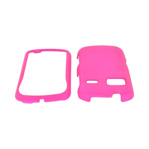 LG Rumor Reflex Rubberized Hard Case - Hot Pink