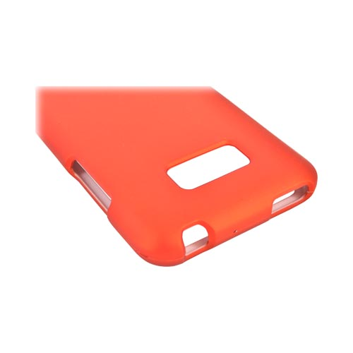 LG Optimus Elite Rubberized Hard Case - Orange