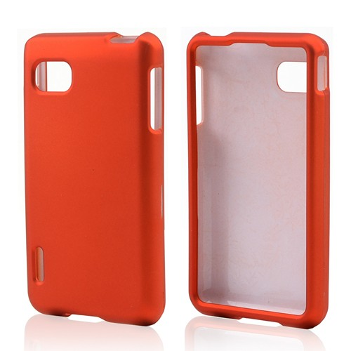 Orange Rubberized Hard Case for LG Optimus F3 - Sprint/ Virgin Mobile