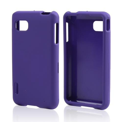 Purple Rubberized Hard Case for LG Optimus F3 - Sprint/ Virgin Mobile