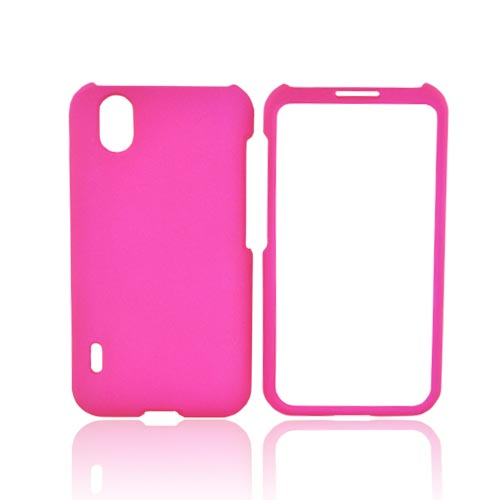 LG Marquee LS855 Rubberized Hard Case - Hot Pink