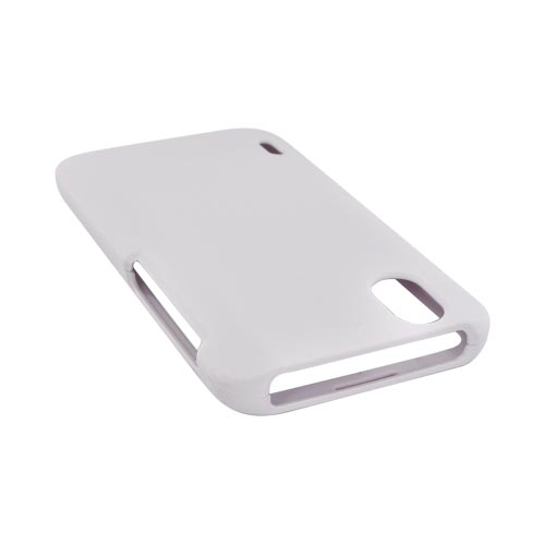 LG Marquee LS855 Rubberized Hard Case - Solid White