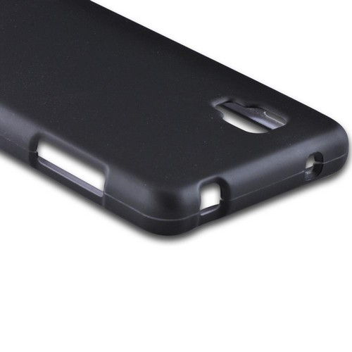 Black Rubberized Hard Case for LG Optimus G (Sprint)