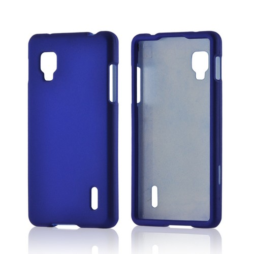 Blue Rubberized Hard Case for LG Optimus G (Sprint)