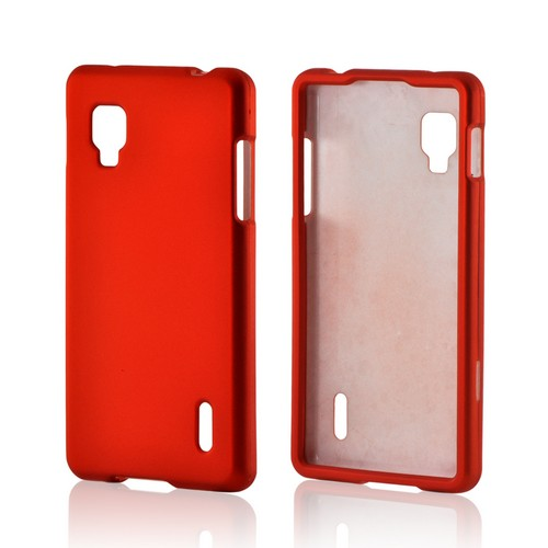 Orange Rubberized Hard Case for LG Optimus G (Sprint)