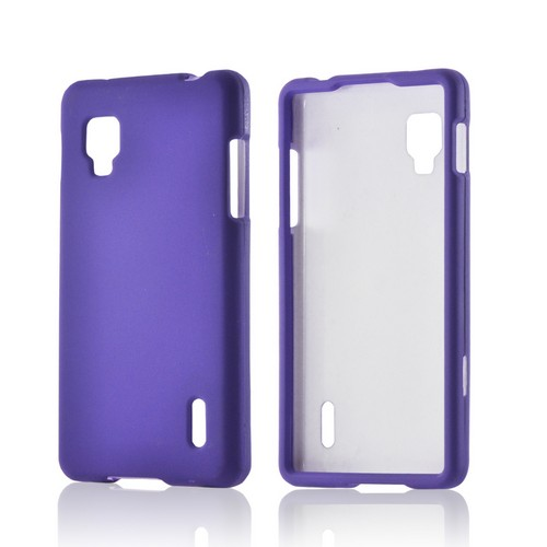 Purple Rubberized Hard Case for LG Optimus G (Sprint)