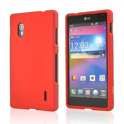 Red Rubberized Hard Case for LG Optimus G (Sprint)