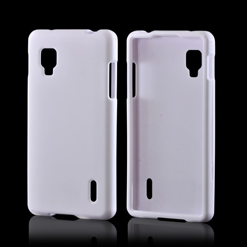 White Rubberized Hard Case for LG Optimus G (Sprint)