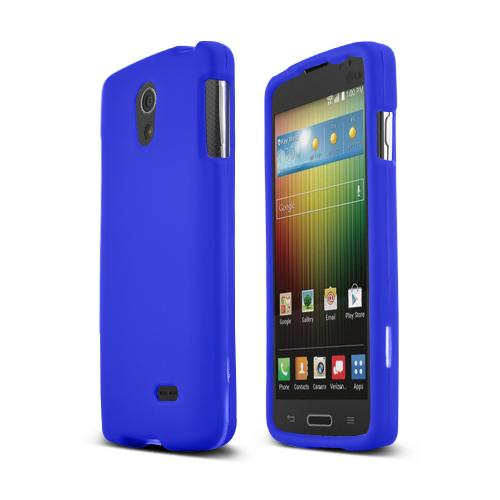 Blue LG Lucid 3 Matte Rubberized Hard Case Cover; Perfect fit as Best Coolest Design Plastic Cases