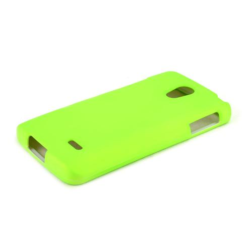 Neon Green LG Lucid 3 Matte Rubberized Hard Case Cover; Perfect fit as Best Coolest Design Plastic Cases