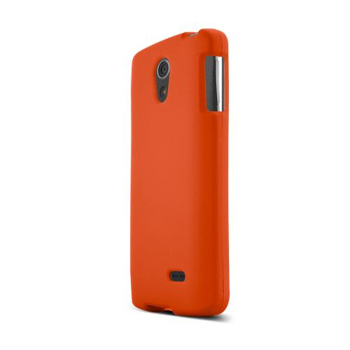 Orange LG Lucid 3 Matte Rubberized Hard Case Cover; Perfect fit as Best Coolest Design Plastic Cases
