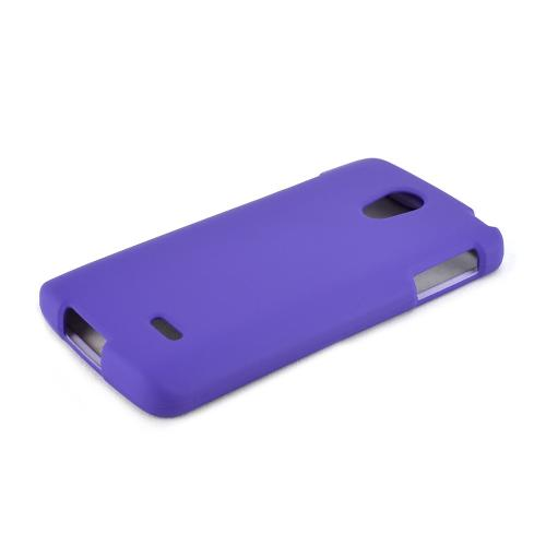 Purple LG Lucid 3 Matte Rubberized Hard Case Cover; Perfect fit as Best Coolest Design Plastic Cases