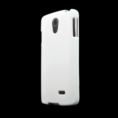 White LG Lucid 3 Matte Rubberized Hard Case Cover; Perfect fit as Best Coolest Design Plastic Cases