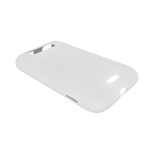 LG Viper 4G LTE/ LG Connect 4G Rubberized Hard Case - White
