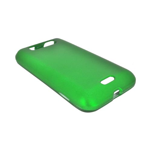 LG Viper 4G LTE/ LG Connect 4G Rubberized Hard Case - Green