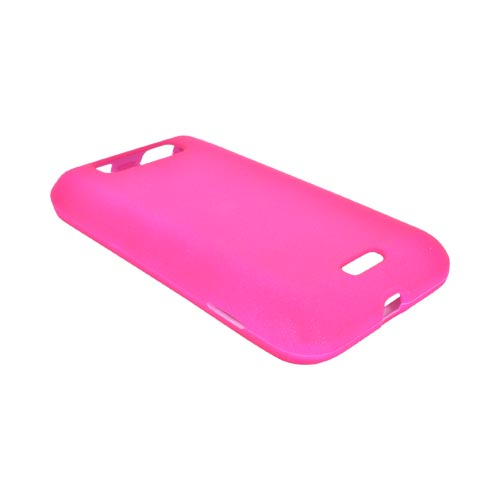 LG Viper 4G LTE/ LG Connect 4G Rubberized Hard Case - Hot Pink