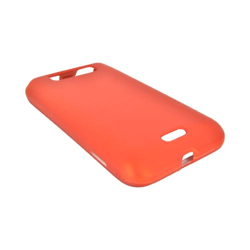 LG Viper 4G LTE/ LG Connect 4G Rubberized Hard Case - Orange
