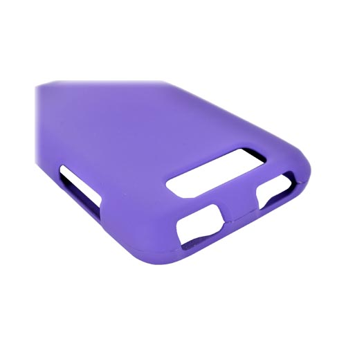 LG Viper 4G LTE/ LG Connect 4G Rubberized Hard Case - Purple
