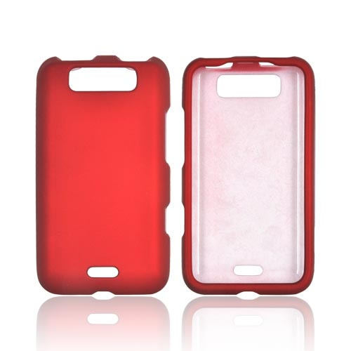 LG Viper 4G LTE/ LG Connect 4G Rubberized Hard Case - Red