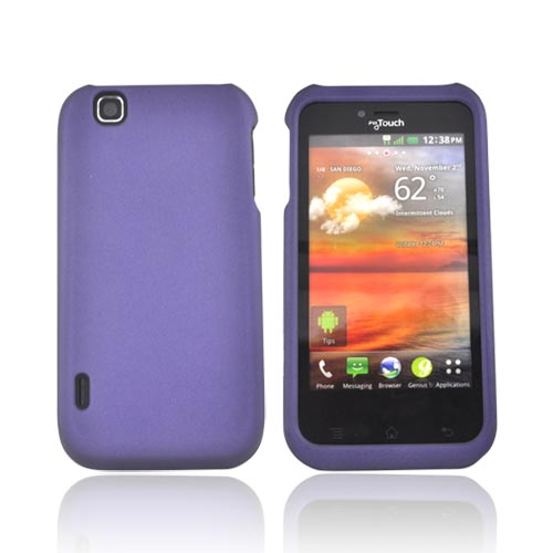 T-Mobile MyTouch Rubberized Hard Case - Purple
