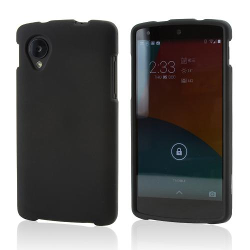 Black Rubberized Hard Case for LG Google Nexus 5