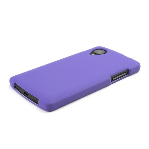 Purple Rubberized Hard Case for LG Google Nexus 5