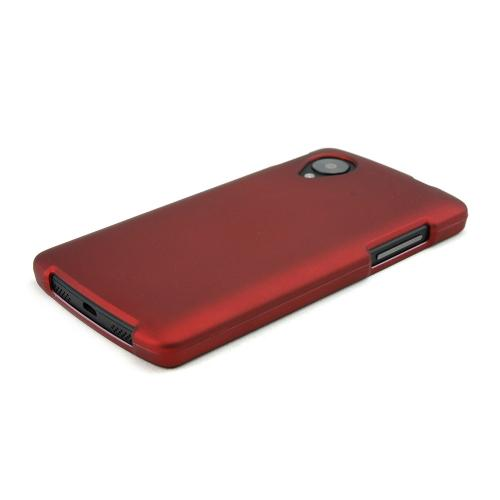 Red Rubberized Hard Case for LG Google Nexus 5