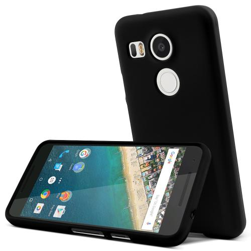 LG Nexus 5X Case,  [Black]  Slim & Protective Rubberized Matte Finish Snap-on Hard Polycarbonate Plastic Case Cover