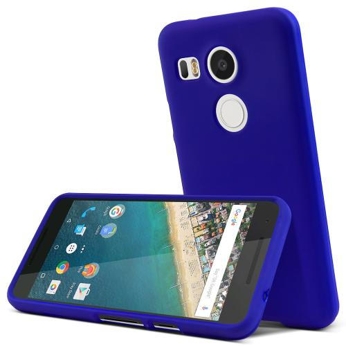 LG Nexus 5X Case,  [Blue]  Slim & Protective Rubberized Matte Finish Snap-on Hard Polycarbonate Plastic Case Cover
