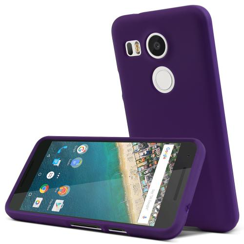 LG Nexus 5X Case,  [Purple]  Slim & Protective Rubberized Matte Finish Snap-on Hard Polycarbonate Plastic Case Cover