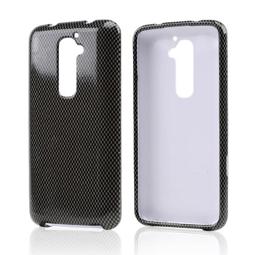 Gray/ Black Carbon Fiber Design Hard Case for LG G2 (AT&T, T-Mobile, & Sprint)