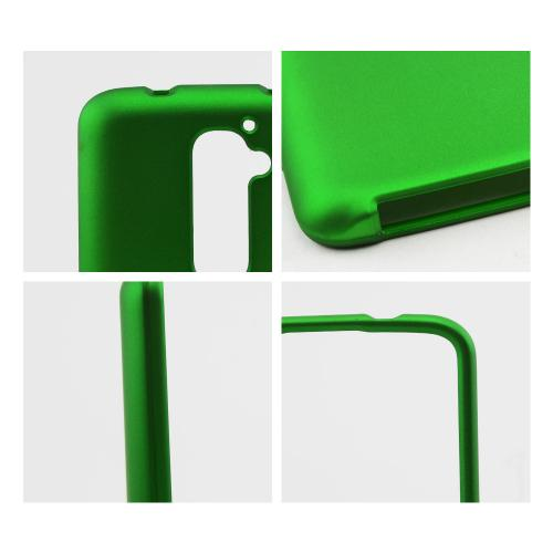 Green Rubberized Hard Case for LG G2 (AT&T, T-Mobile, & Sprint)