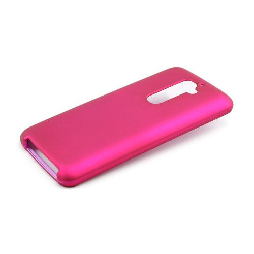 Hot Pink Rubberized Hard Case for LG G2 (AT&T, T-Mobile, & Sprint)