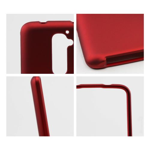 Red Rubberized Hard Case for LG G2 (AT&T, T-Mobile, & Sprint)