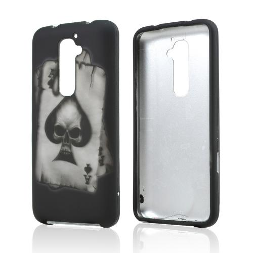 Black Ace Spade Skull Rubberized Hard Case for LG G2 (AT&T, T-Mobile, & Sprint)