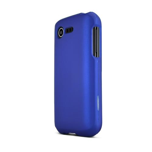 Blue LG Optimus Zone 2/ LG Optimus Fuel Matte Rubberized Hard Case Cover; Perfect fit as Best Coolest Design Plastic Cases