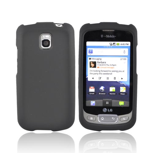 LT Optimus T, LG Thrive Rubberized Hard Case - Black