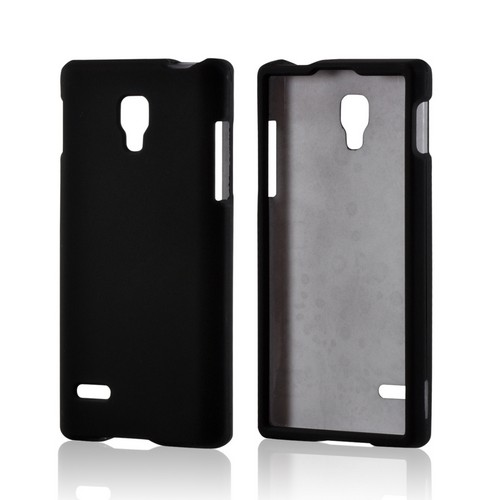 Black Rubberized Hard Case for LG Optimus L9