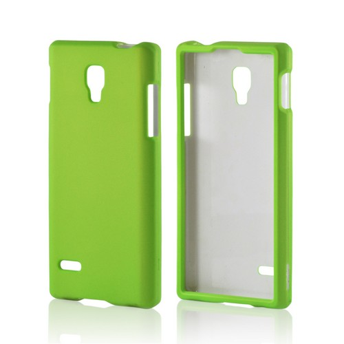 Neon Green Rubberized Hard Case for LG Optimus L9