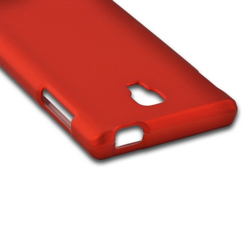 Orange Rubberized Hard Case for LG Optimus L9