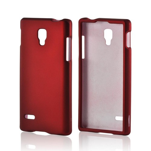 Red Rubberized Hard Case for LG Optimus L9