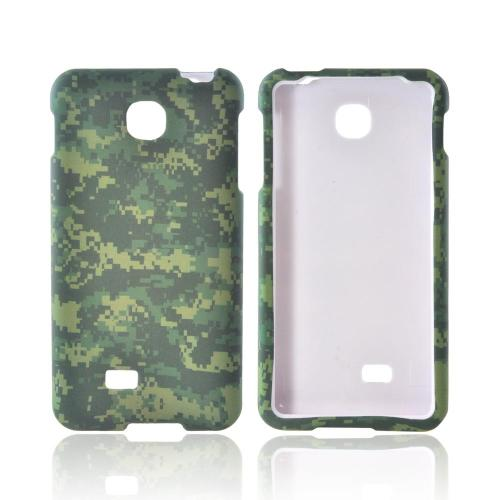 LG Escape Rubberized Hard Case - Green Digital Camouflage