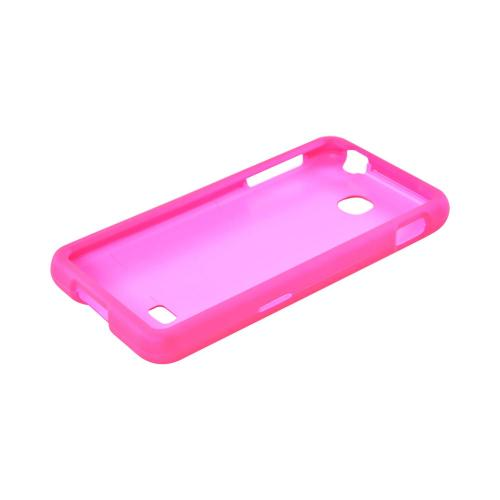 LG Escape Rubberized Hard Case - Hot Pink