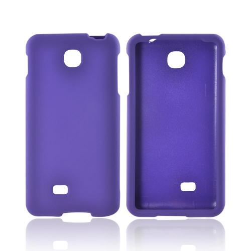 LG Escape Rubberized Hard Case - Purple