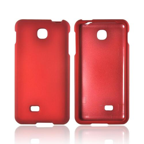 LG Escape Rubberized Hard Case - Red