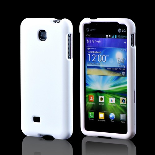 LG Escape Rubberized Hard Case - White