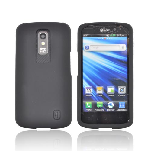 LG Nitro HD Rubberized Hard Case - Black
