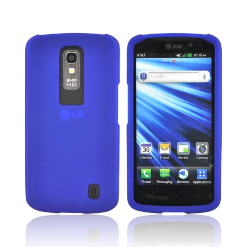 LG Nitro HD Rubberized Hard Case - Blue