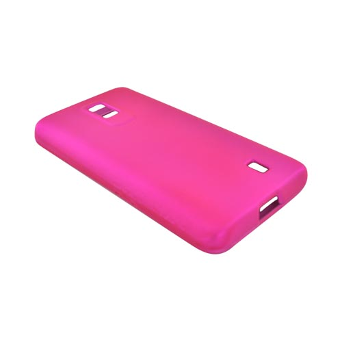 LG Spectrum Rubberized Hard Case - Hot Pink