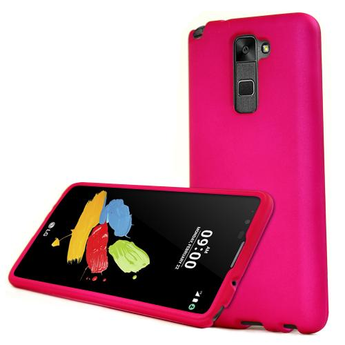 LG Stylo 2 Case, REDshield [Hot Pink] Slim & Protective Rubberized Matte Finish Snap-on Hard Polycarbonate Plastic Case Cover